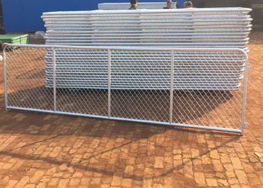 Durable Practical Chain Link Fence Sliding Gate / Adjustable Chain Link Gate